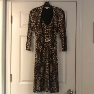 Gorgeous leopard print dress with metal detail